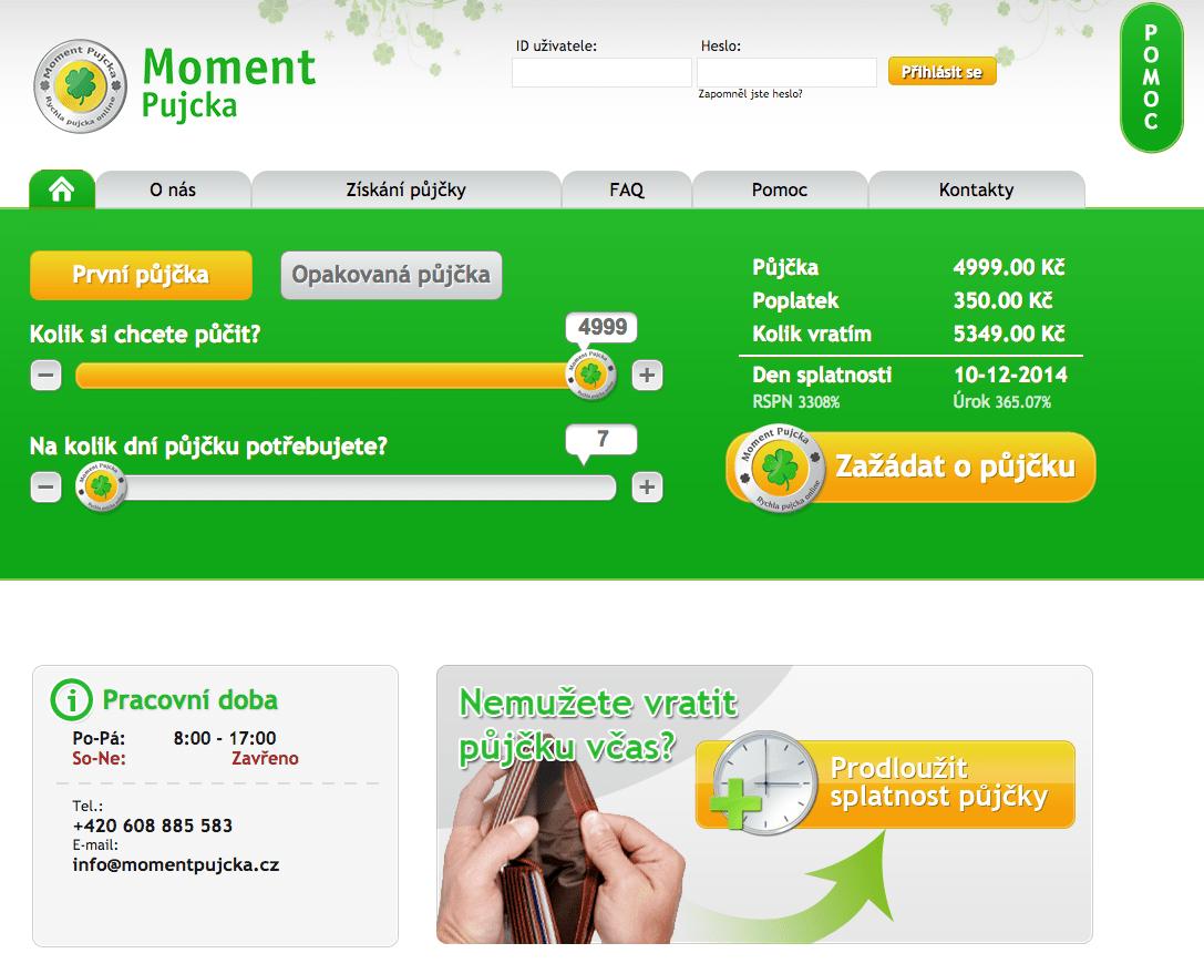 Online pujcka ihned oslavany zámek