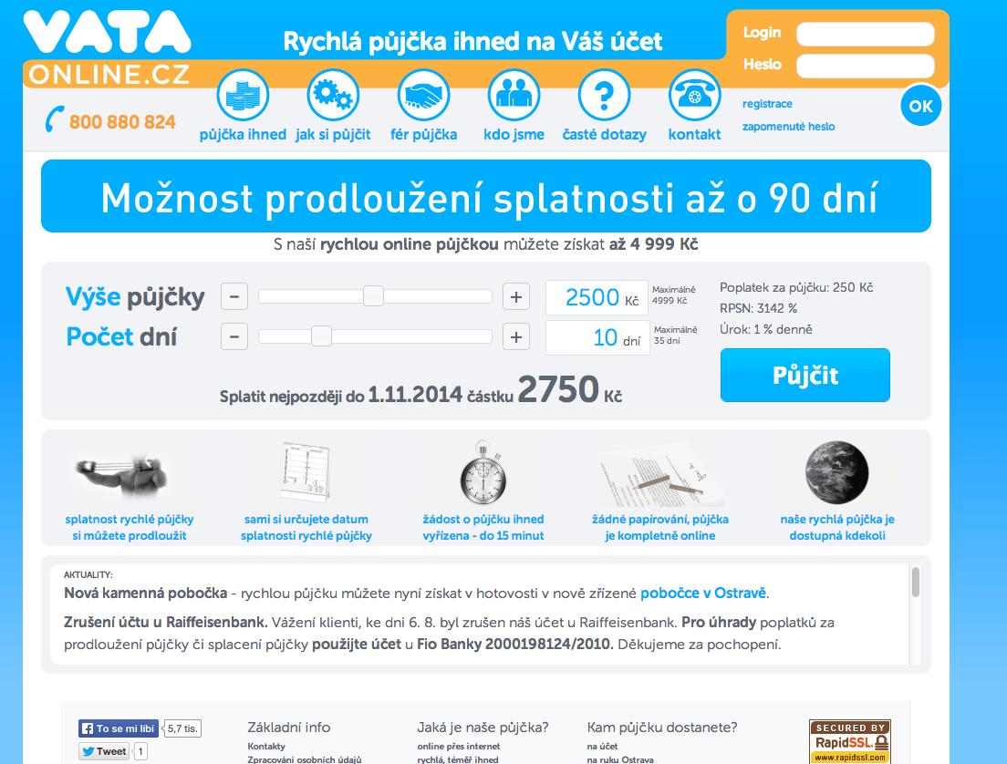 Online nebankovní rychlé půjčky ihned cz